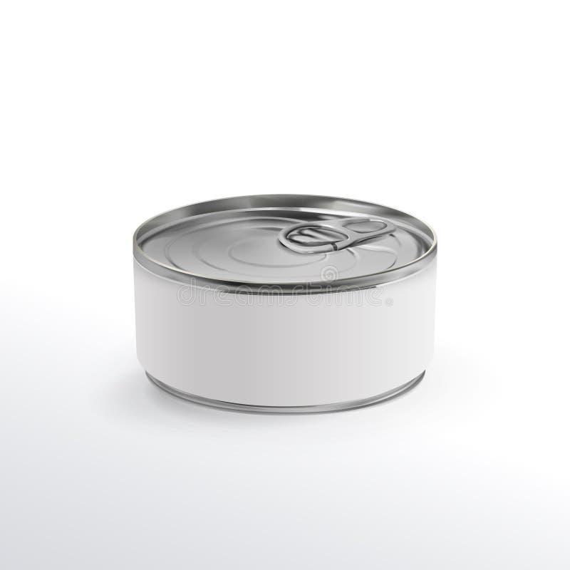 Unbelegte Aluminiumdose lizenzfreie abbildung