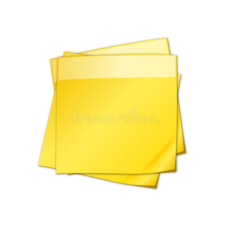 Unbelegte Anmerkungsblätter des Post-It vektor abbildung