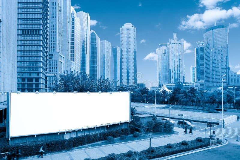 Unbelegte Anschlagtafel in Shanghai lizenzfreies stockbild