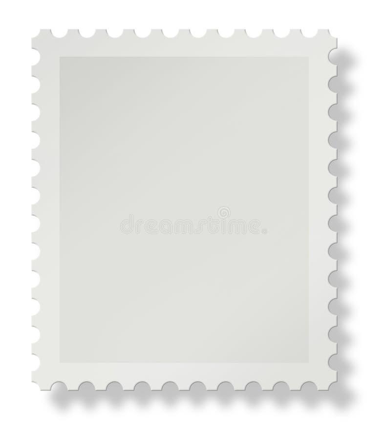 Unbelegte Briefmarke stock abbildung