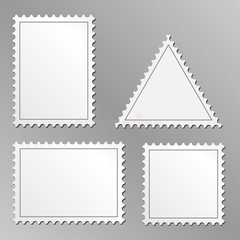 Unbelegte Briefmarken vektor abbildung