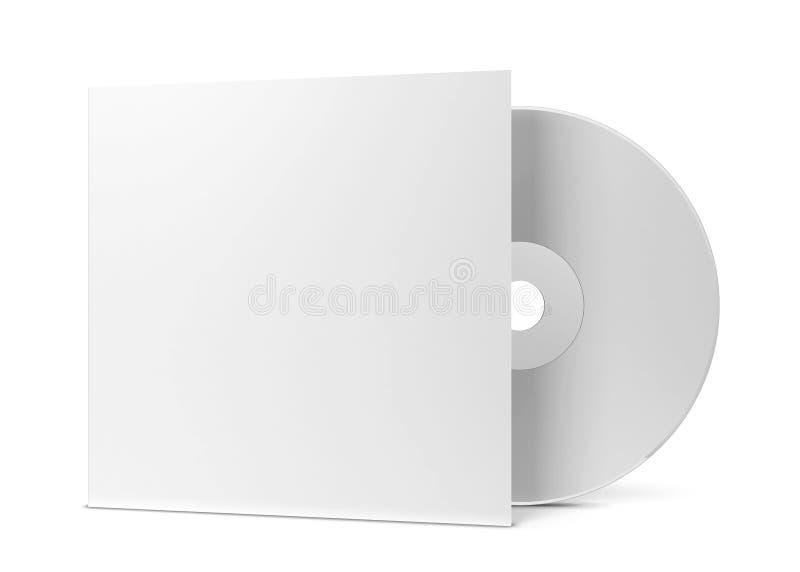 Unbelegte CD Abdeckung lizenzfreie abbildung