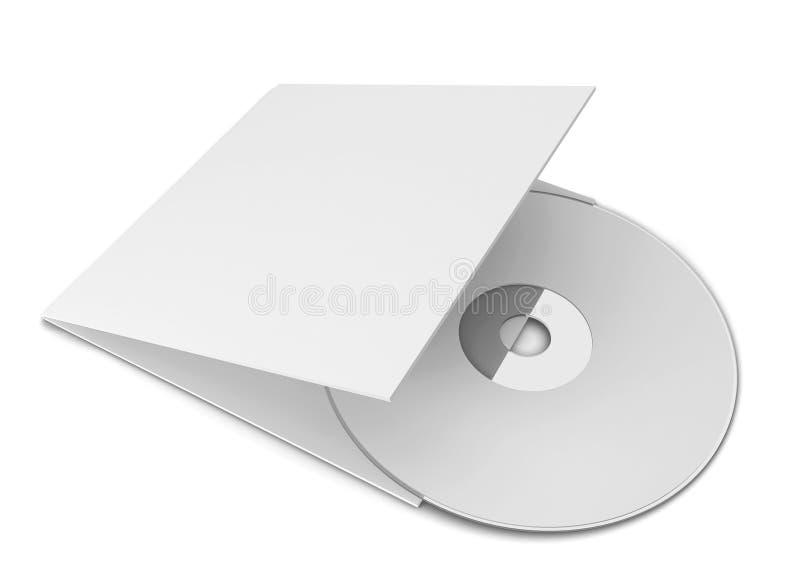 Unbelegte CD Abdeckung vektor abbildung