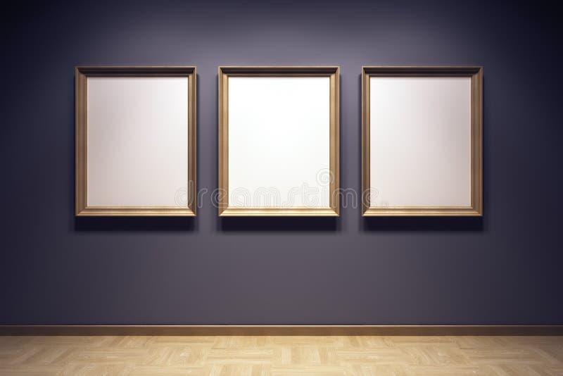 Unbelegte Felder in der Galerie stock abbildung