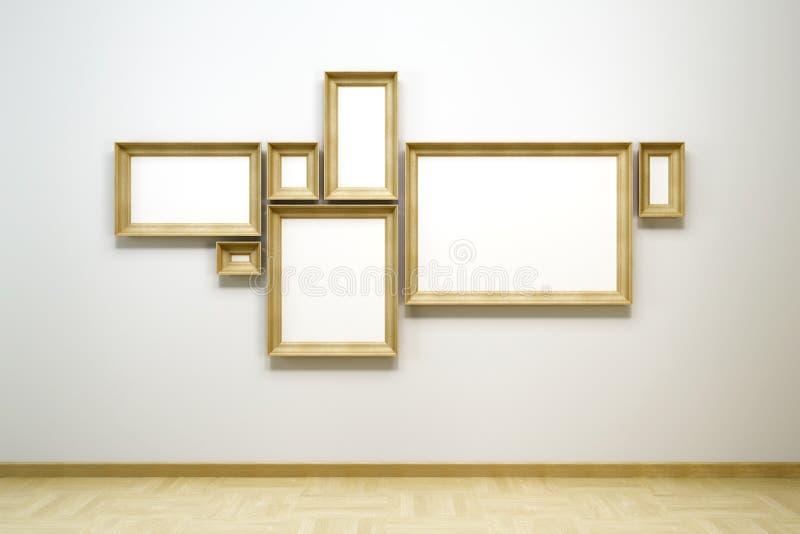 Unbelegte Felder in der Galerie lizenzfreie abbildung