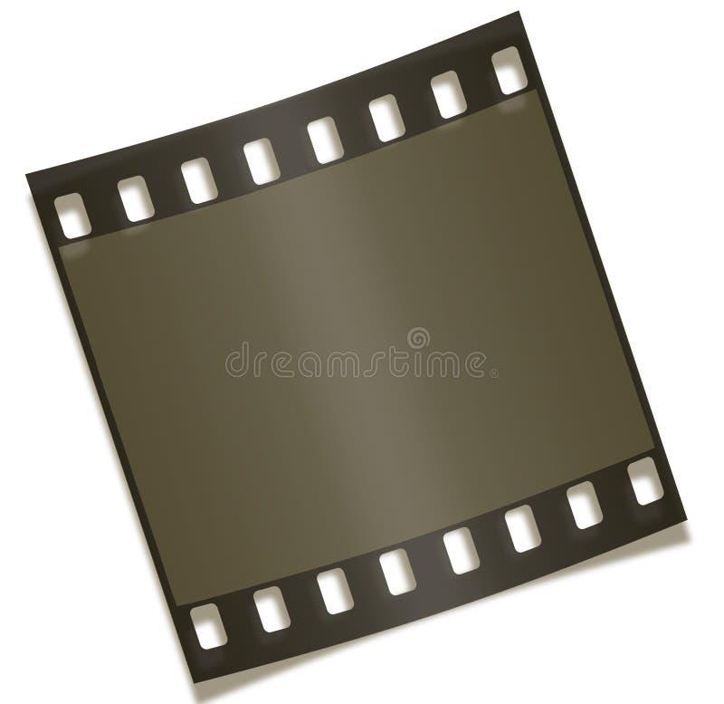 Unbelegte Filmstrip Negativ-Fotographie lizenzfreie abbildung