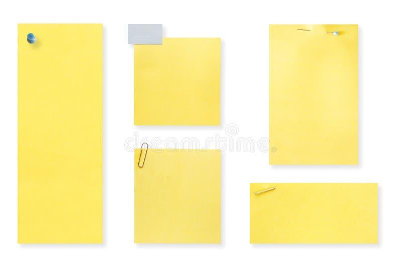 Unbelegte gelbe Anmerkungen lizenzfreies stockbild