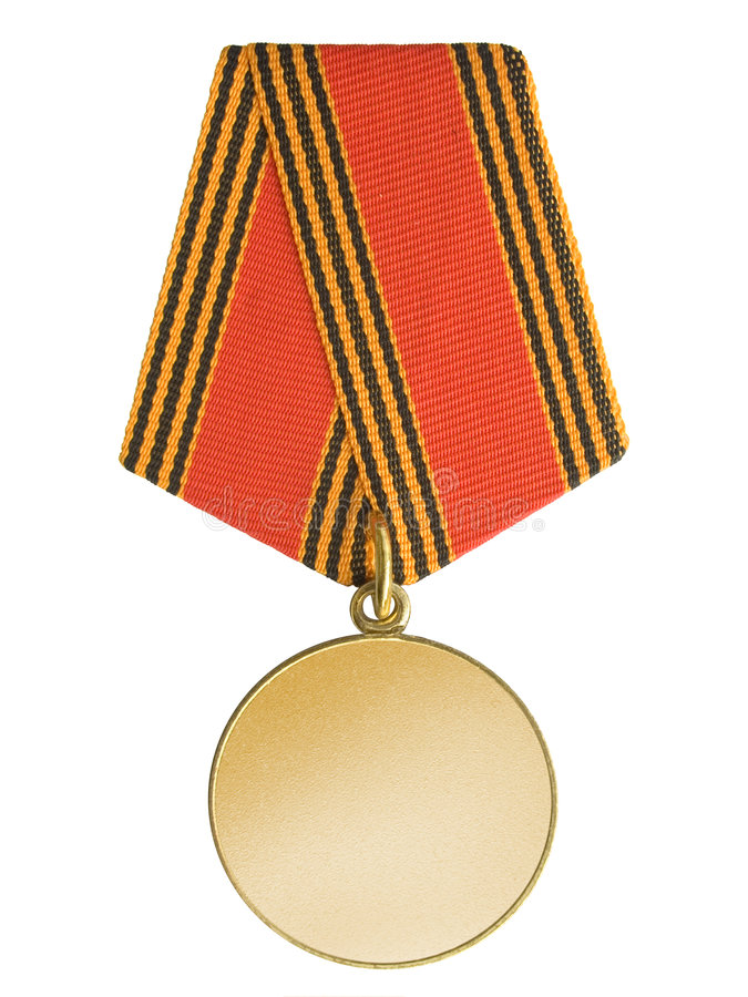 Unbelegte Goldmedaille lizenzfreie stockfotos