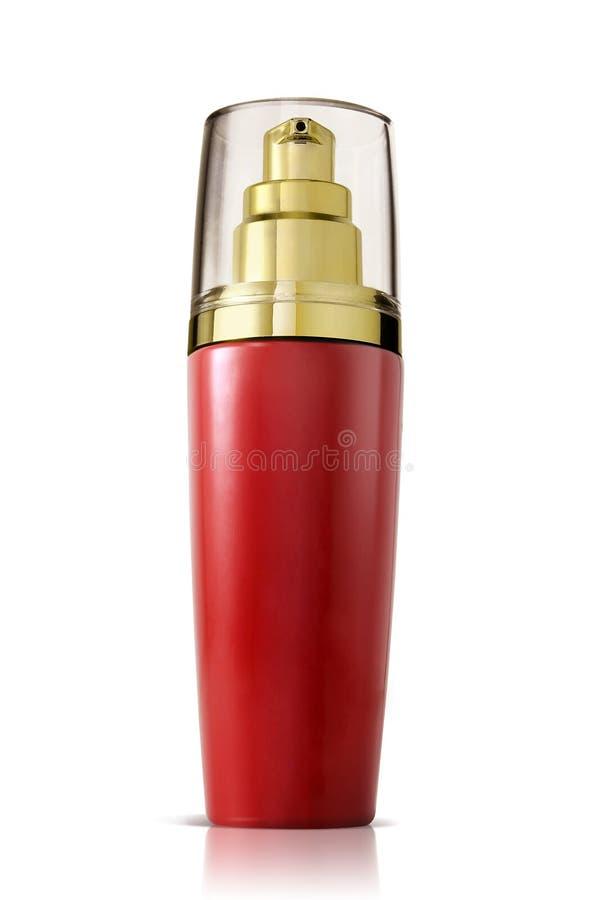 Unbelegte kosmetische Flasche stockfoto