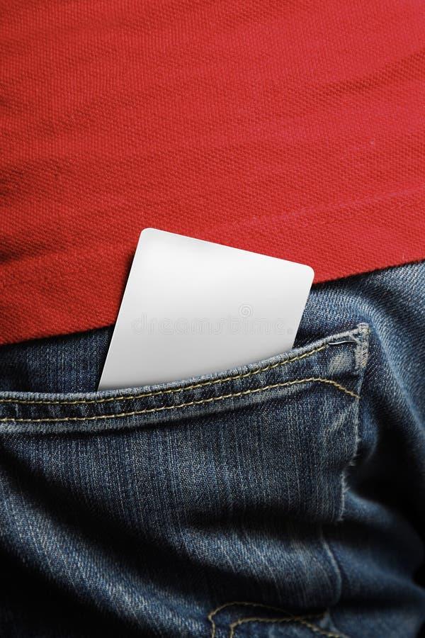 Unbelegte Kreditkarte lizenzfreies stockbild