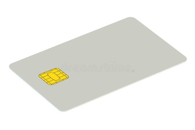 Unbelegte Kreditkarte stock abbildung