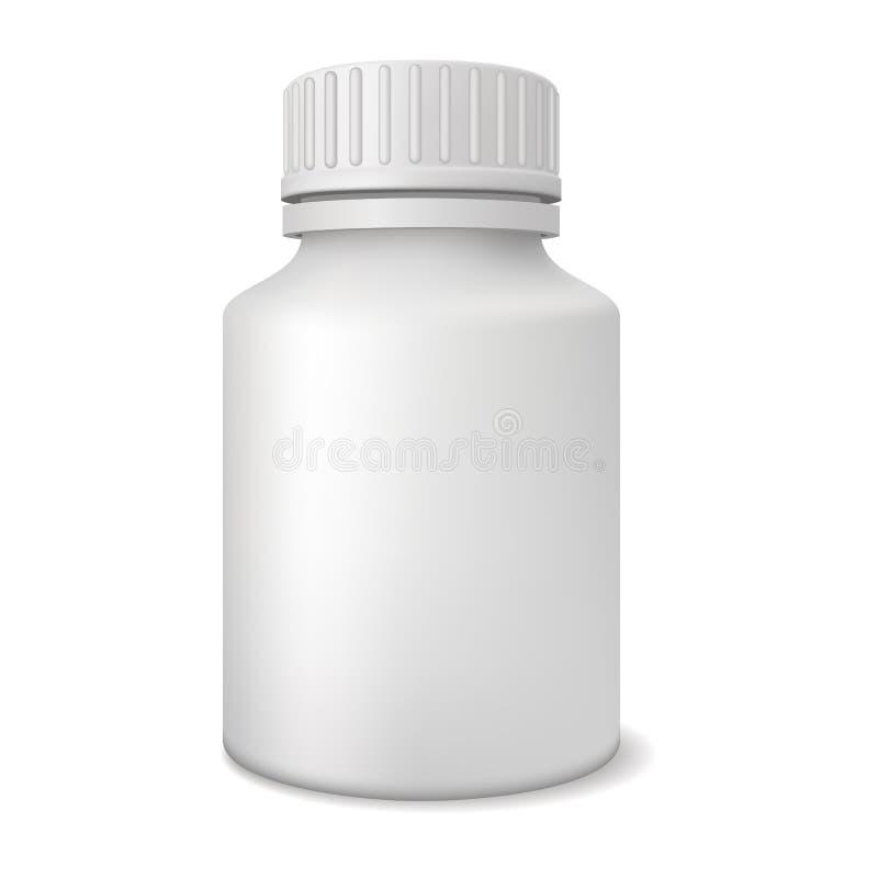 Unbelegte Medizinflasche lizenzfreie abbildung