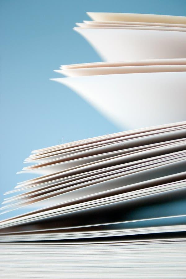 Unbelegte Papiere lizenzfreie stockbilder