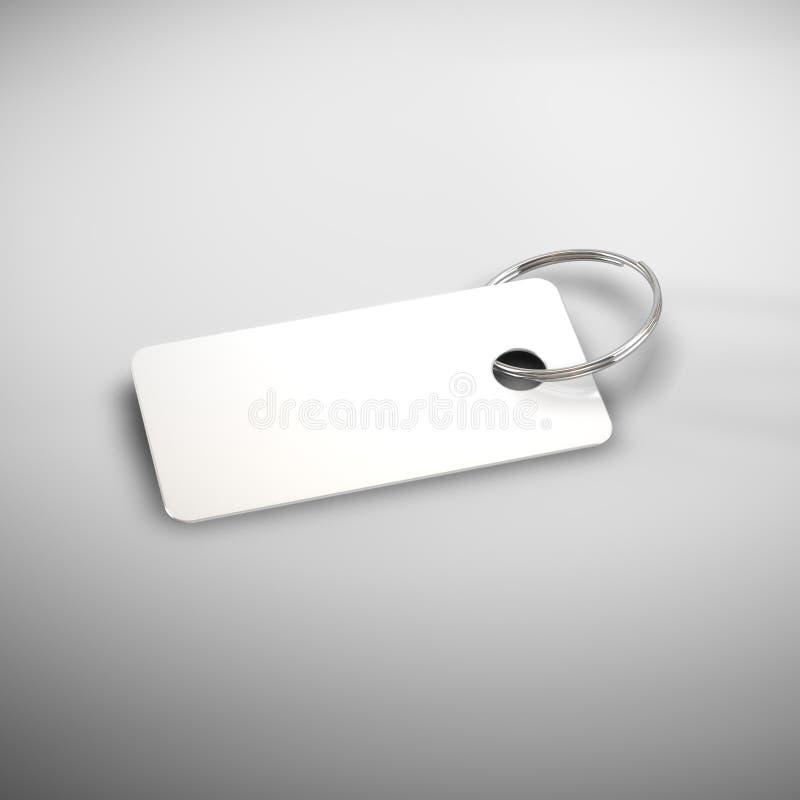 Unbelegte Plastikschlüsselkarte lizenzfreie abbildung