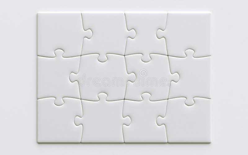 Unbelegte Puzzlespielstücke stock abbildung