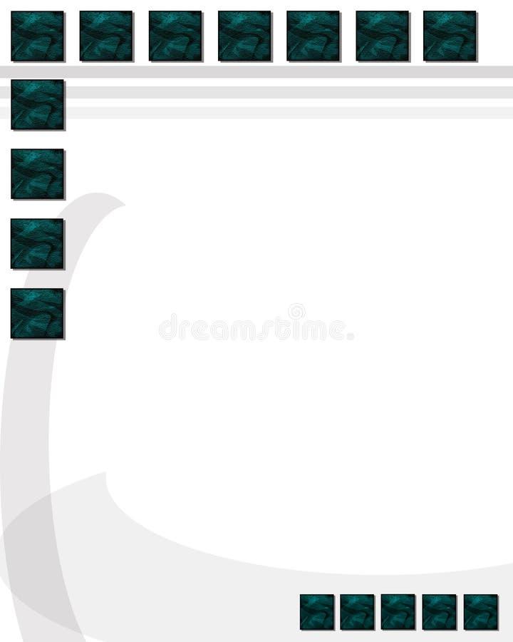 Unbelegte Schablone 1 lizenzfreie abbildung