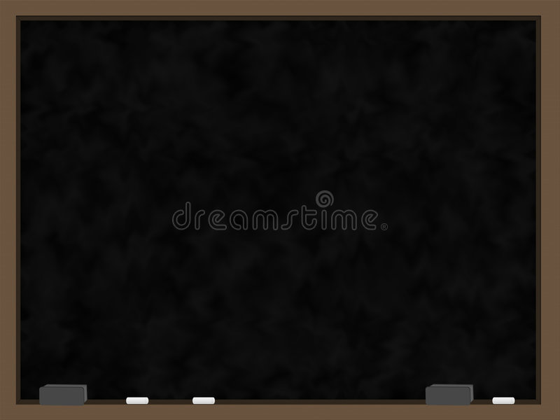 Unbelegte schwarze Tafel lizenzfreie abbildung