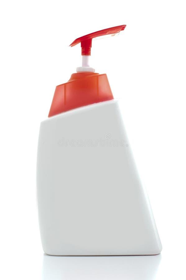Unbelegte Shampoo-Flasche stockbild