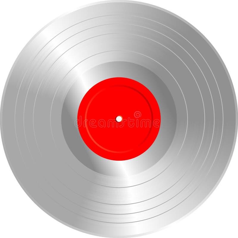Unbelegte Silber Langspielplatte lizenzfreie abbildung