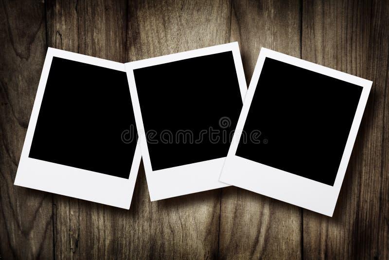 Unbelegte sofortige Fotos lizenzfreie stockfotografie