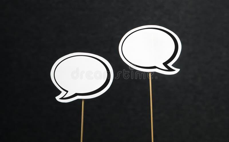 Unbelegte Spracheluftblasen lizenzfreie stockfotos