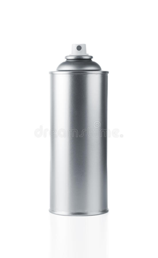 Unbelegte Spraydose stockfoto