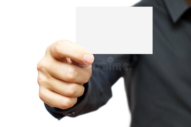 Unbelegte Visitenkarte stockbild