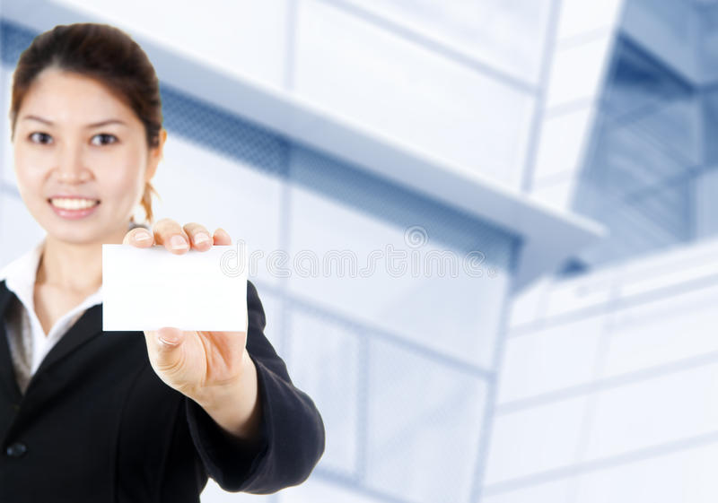 Unbelegte Visitenkarte lizenzfreie stockfotografie