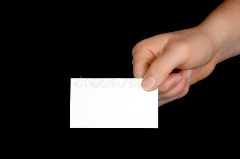 Unbelegte Visitenkarte (mit Ausschnittspfad) stockfoto