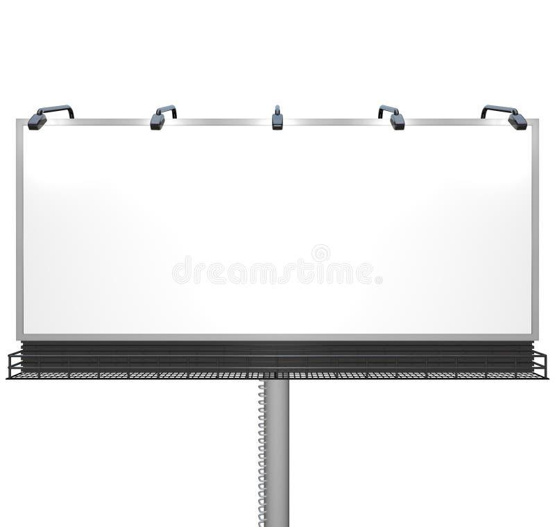 Unbelegte weiße Anschlagtafel betriebsbereit zu Ihrer Meldung vektor abbildung