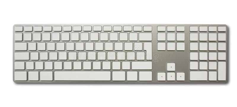 Unbelegte weiße Computertastatur lizenzfreie stockfotos