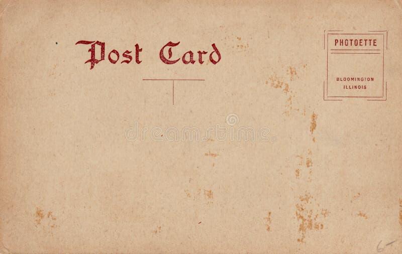 Unbelegte Weinlese-Postkarte 1910's stockfotografie