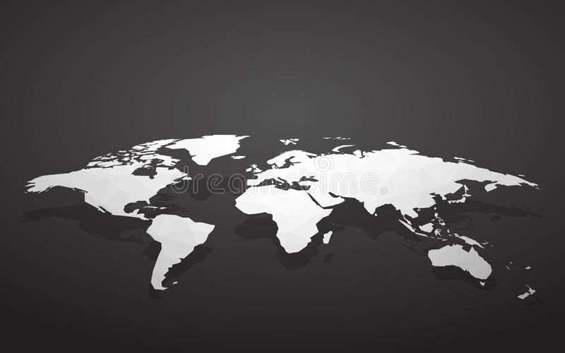 Unbelegte Weltkarte vektor abbildung