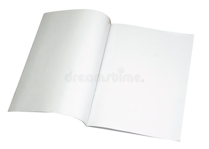 Unbelegte Zeitschrift ausgebreitet mit Pfad lizenzfreie stockbilder