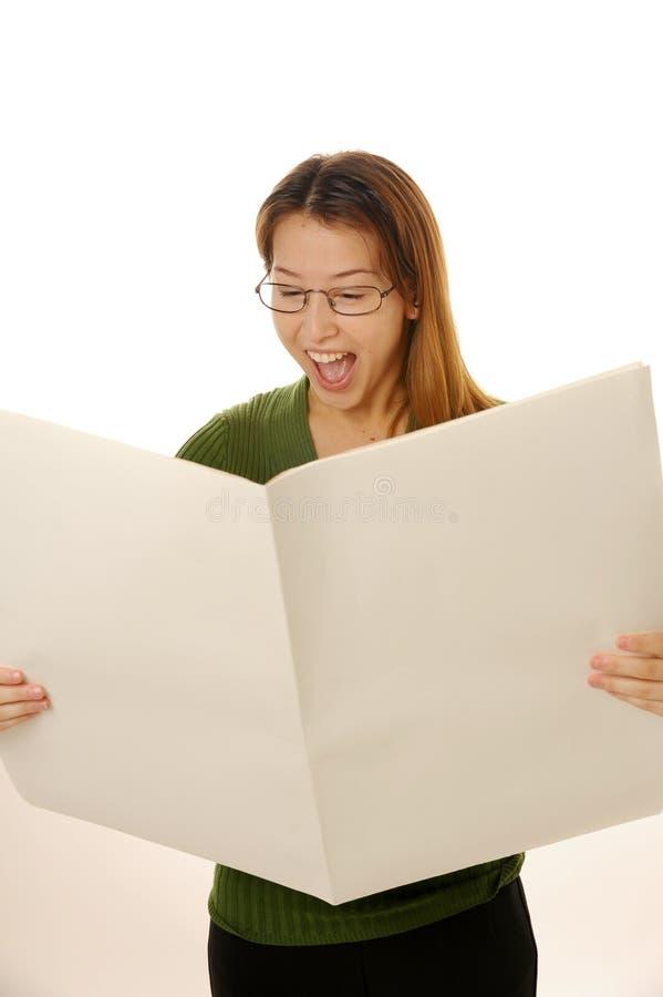 Unbelegte Zeitung lizenzfreie stockbilder