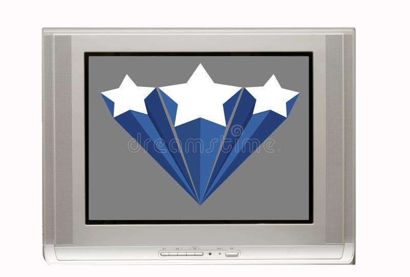 Unbelegter Fernsehapparat mit Sternfahne stock abbildung