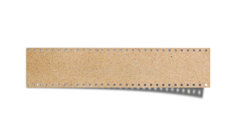 Unbelegter Filmstreifen aufbereiteter Papierfertigkeitsteuerknüppel stockfotografie