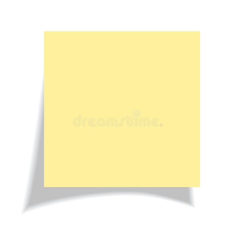Unbelegter gelber Aufkleber stock abbildung