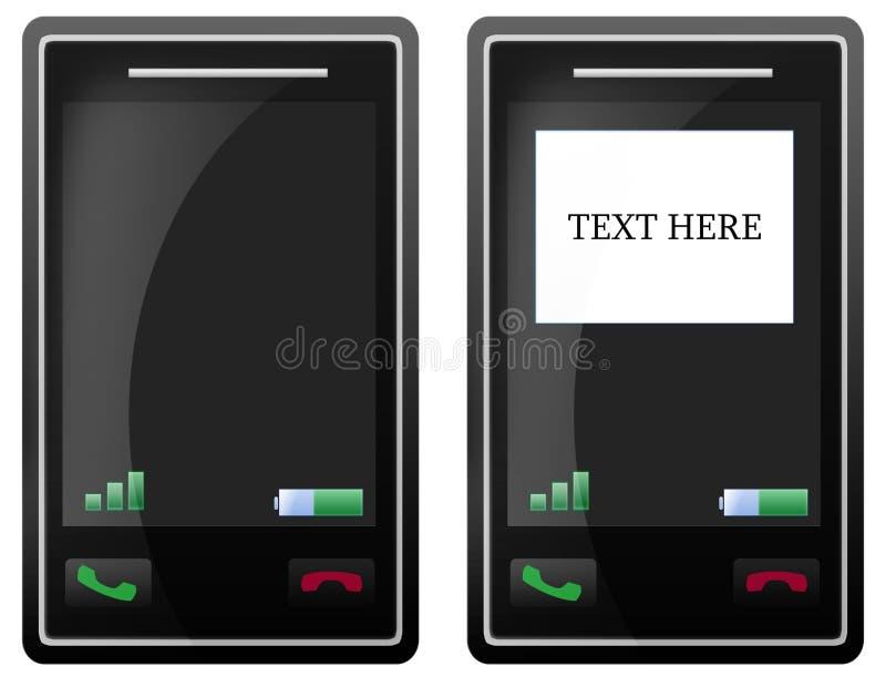 Unbelegter HandyTouch Screen stock abbildung