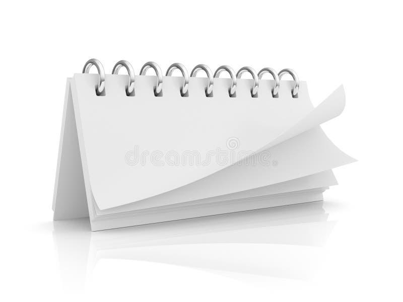 Unbelegter Kalender stockbilder