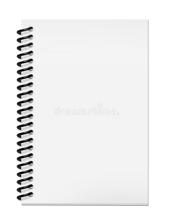 Unbelegter Notizblock mit Ausschnittspfad stock abbildung