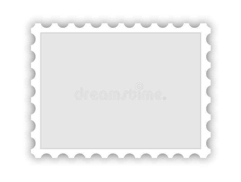 Unbelegter Poststempel vektor abbildung