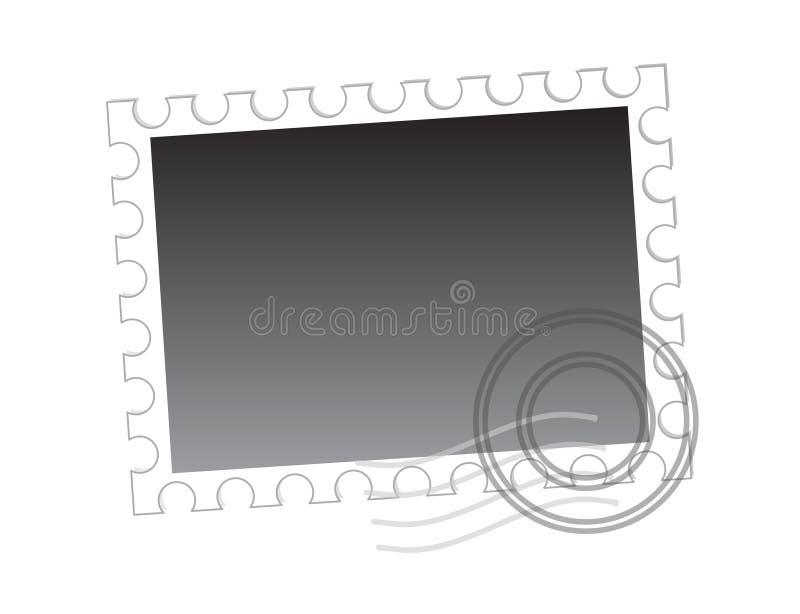 Unbelegter Poststempel getrennt lizenzfreie abbildung