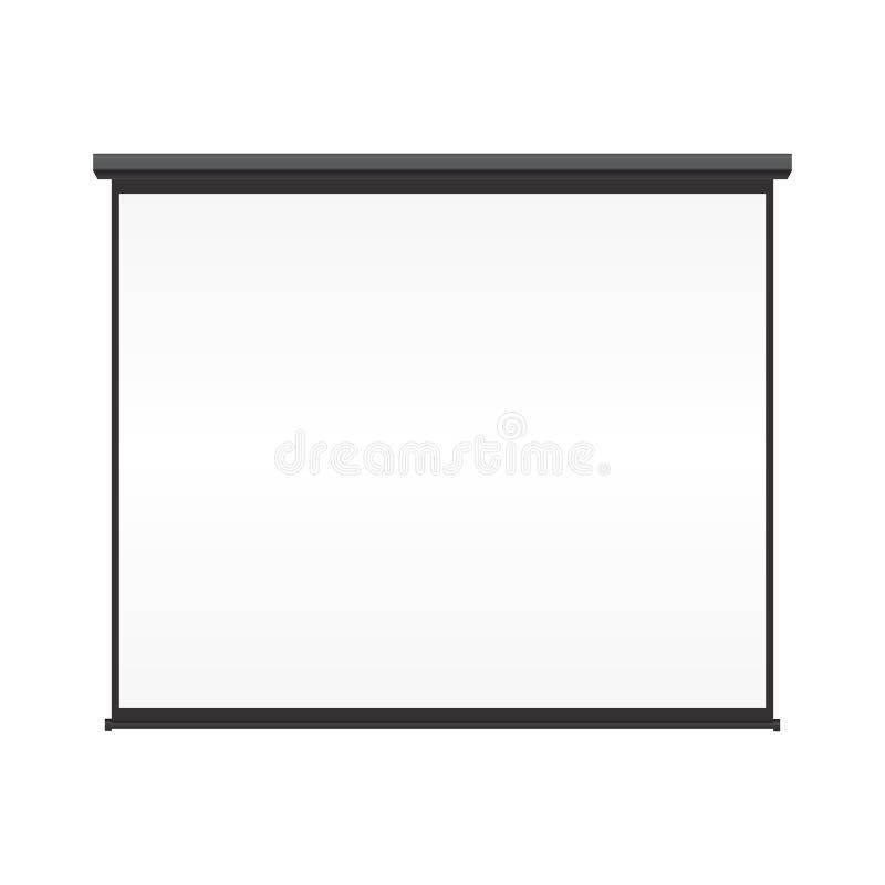 Unbelegter Projektionsbildschirm lizenzfreie abbildung