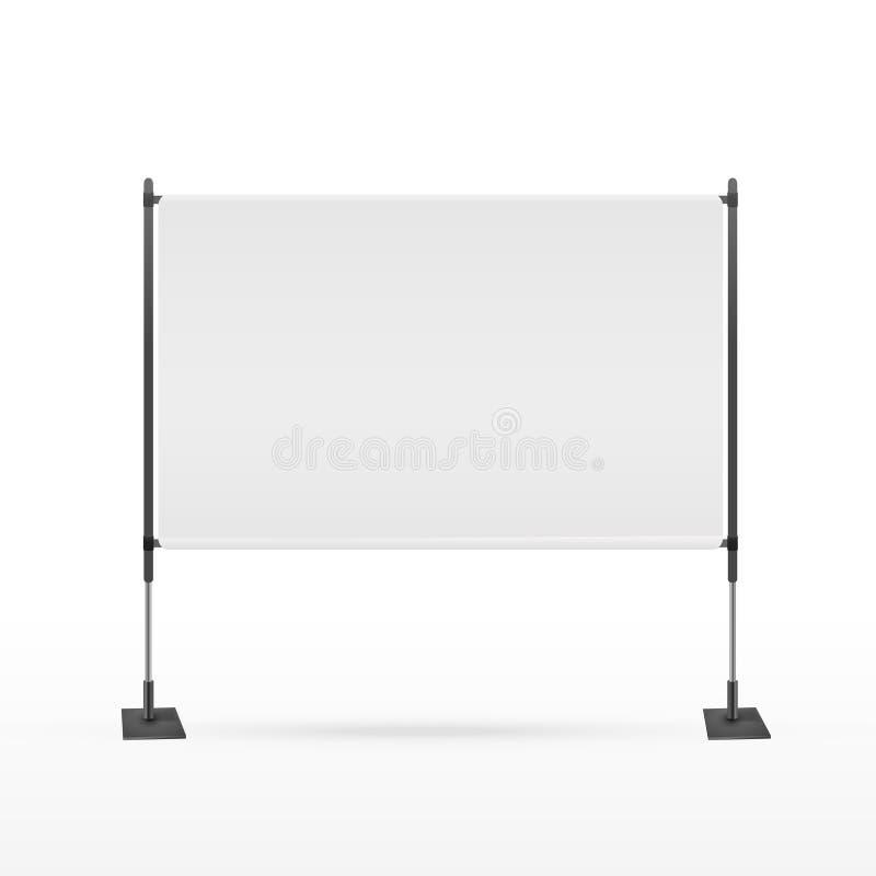 Unbelegter Projektorbildschirm vektor abbildung