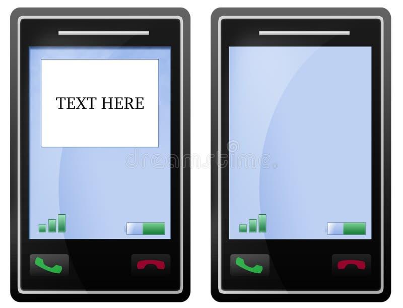 Unbelegter schwarzer Handybildschirm lizenzfreie abbildung