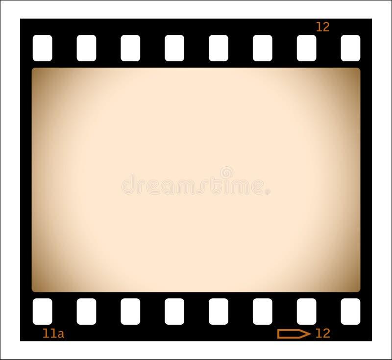 Unbelegter Sepiafilmstreifen lizenzfreie abbildung