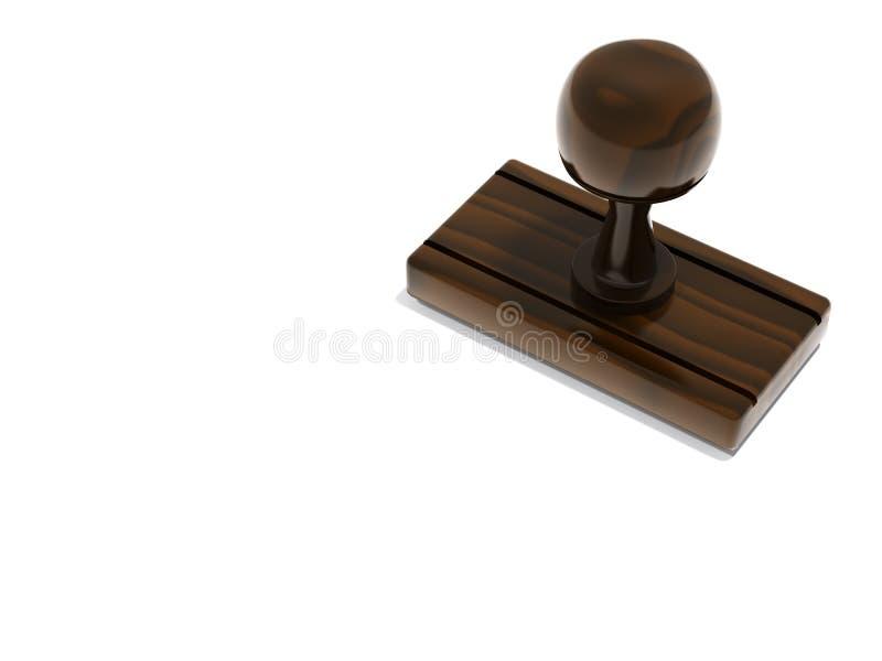 Unbelegter Stempel mit Exemplarplatz stock abbildung