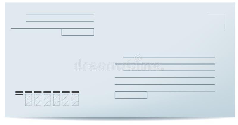 Unbelegter Umschlag stock abbildung