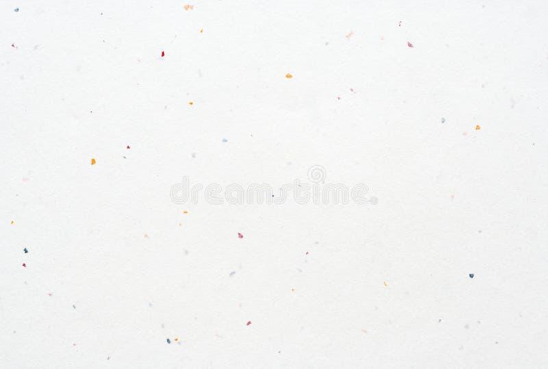 Unbelegter weißer handgemachter strukturierter Papierhintergrund lizenzfreie stockfotos